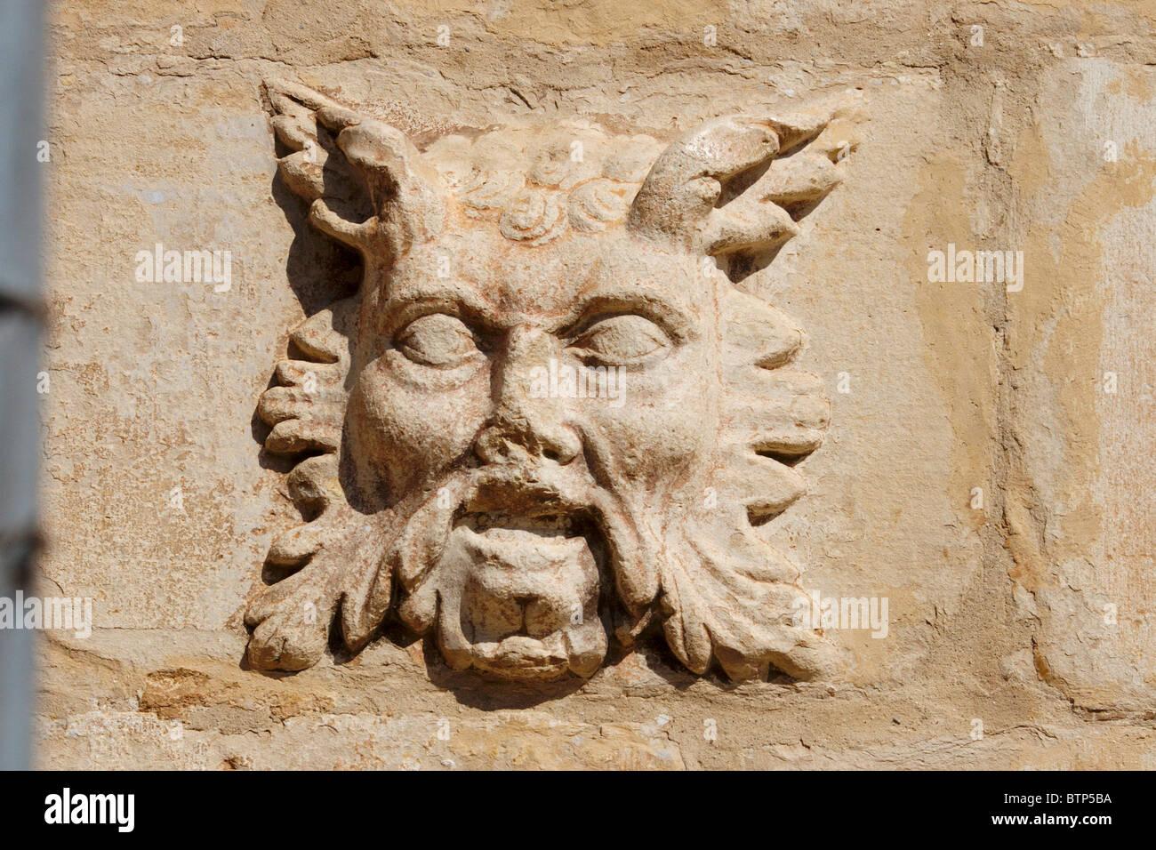 Montblanc, Spain, Asturias, Bas Relief - Stock Image