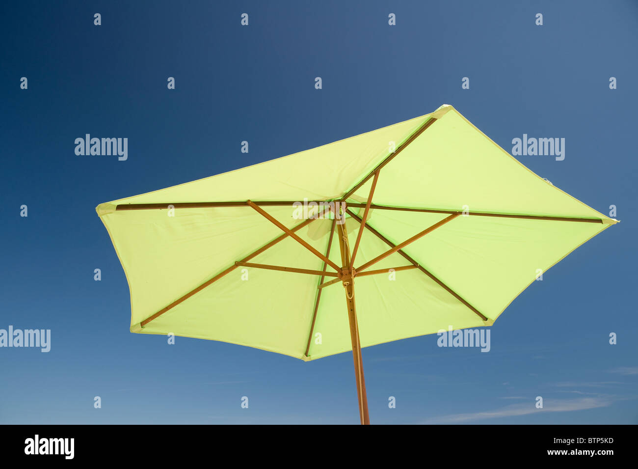 Beach Umbrella, Studland Beach, Dorset - Stock Image