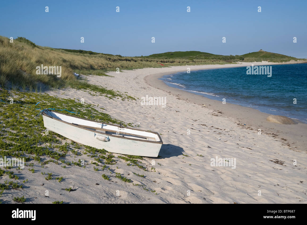 Higher Town bay beach on St. Martin's, Isles of Scilly, UK. - Stock Image