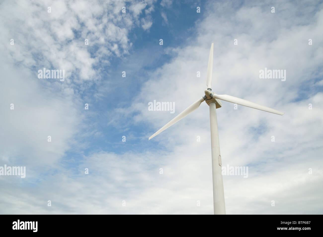 Wind Turbine, Cornwall, UK. - Stock Image