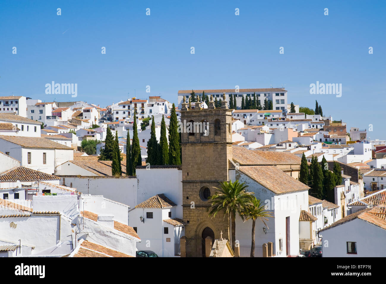 Rooftops, Ronda, Andalucia, Spain - Stock Image