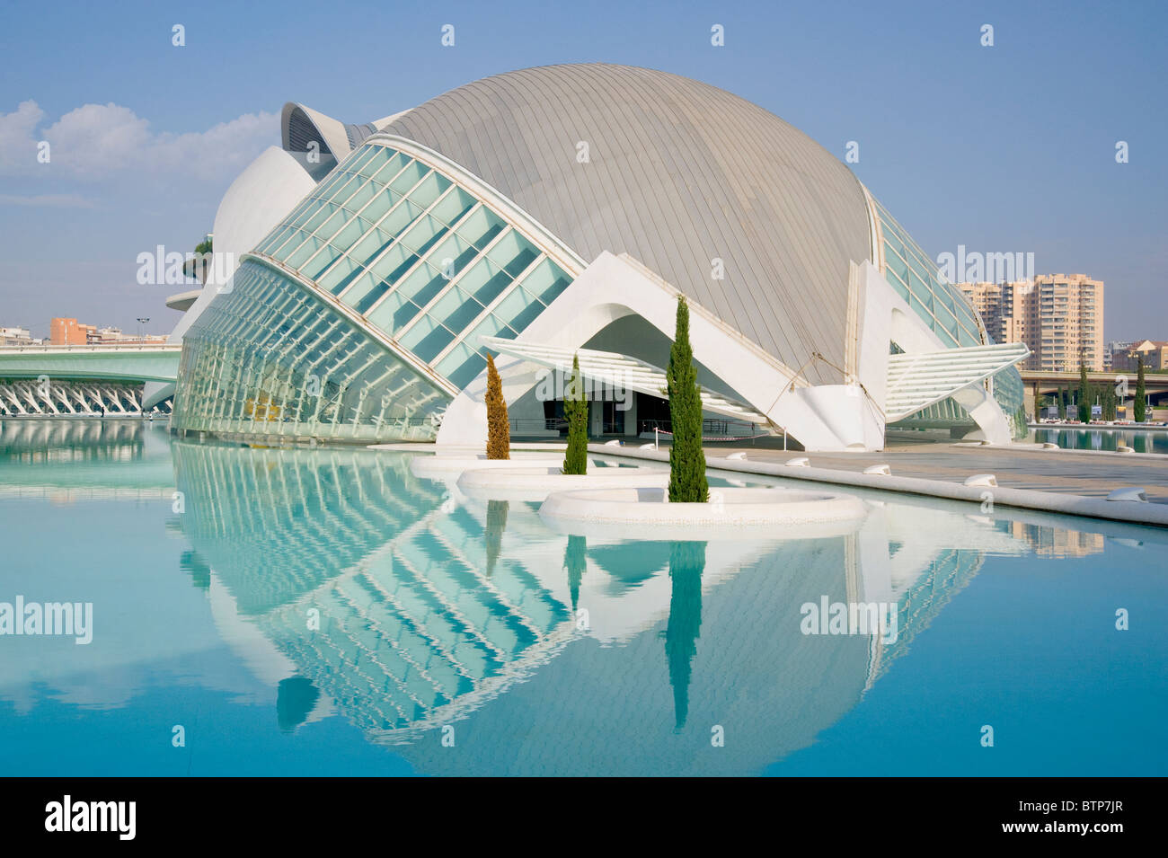 Arts and Science Park (Ciudad de las Artes y las Ciencias), Valencia, Spain - Stock Image