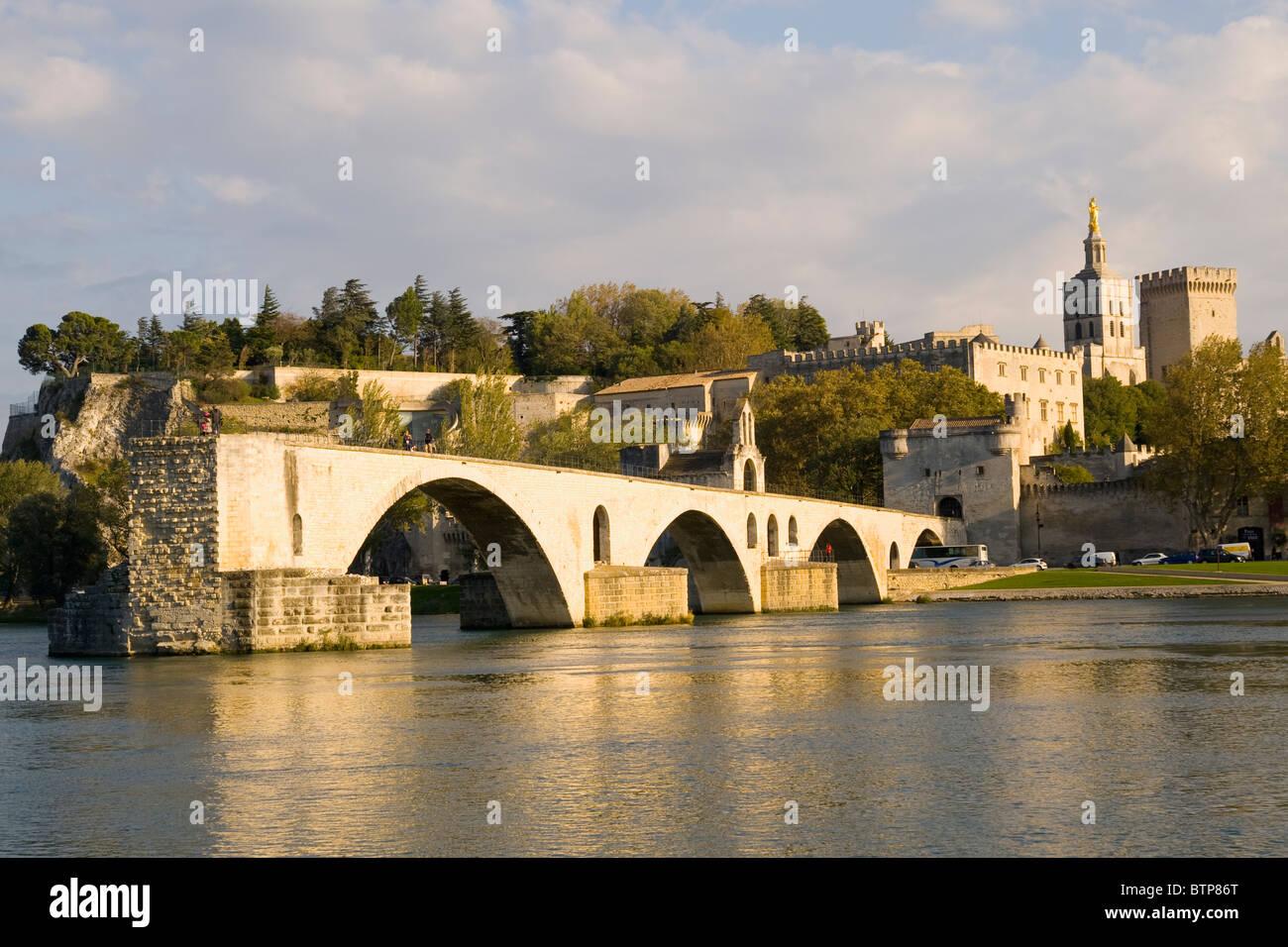 Pont St Benezet over River Rhone, Avignon, Provence, France - Stock Image