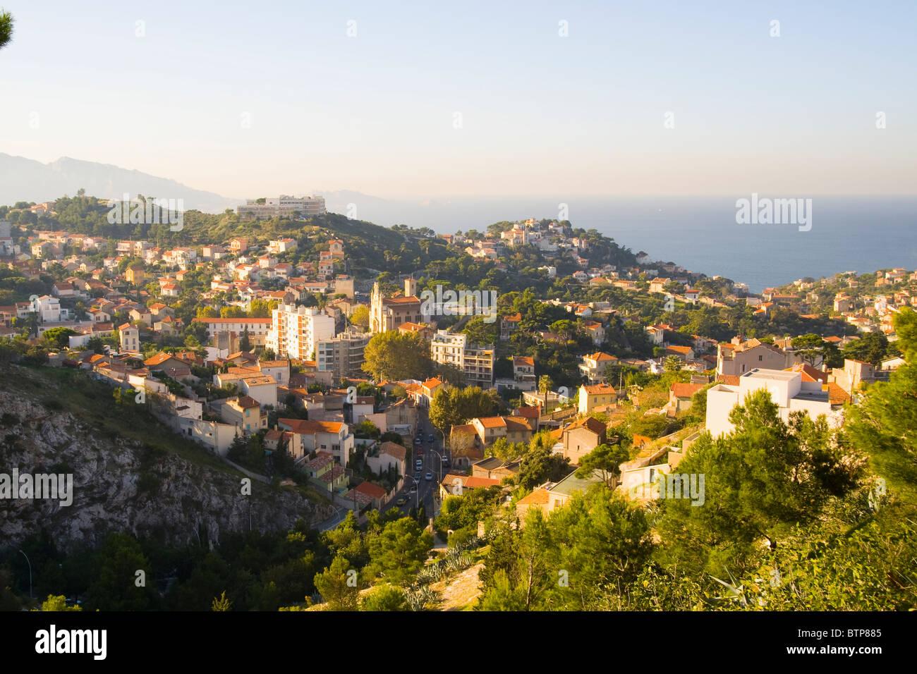 The 7th Arrondissement of Marseille, Marseille, France - Stock Image