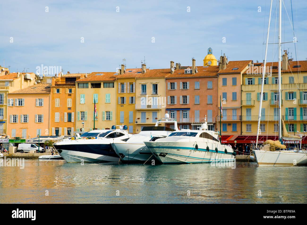 Harbour, St. Tropez, Cote d'Azur, France Stock Photo