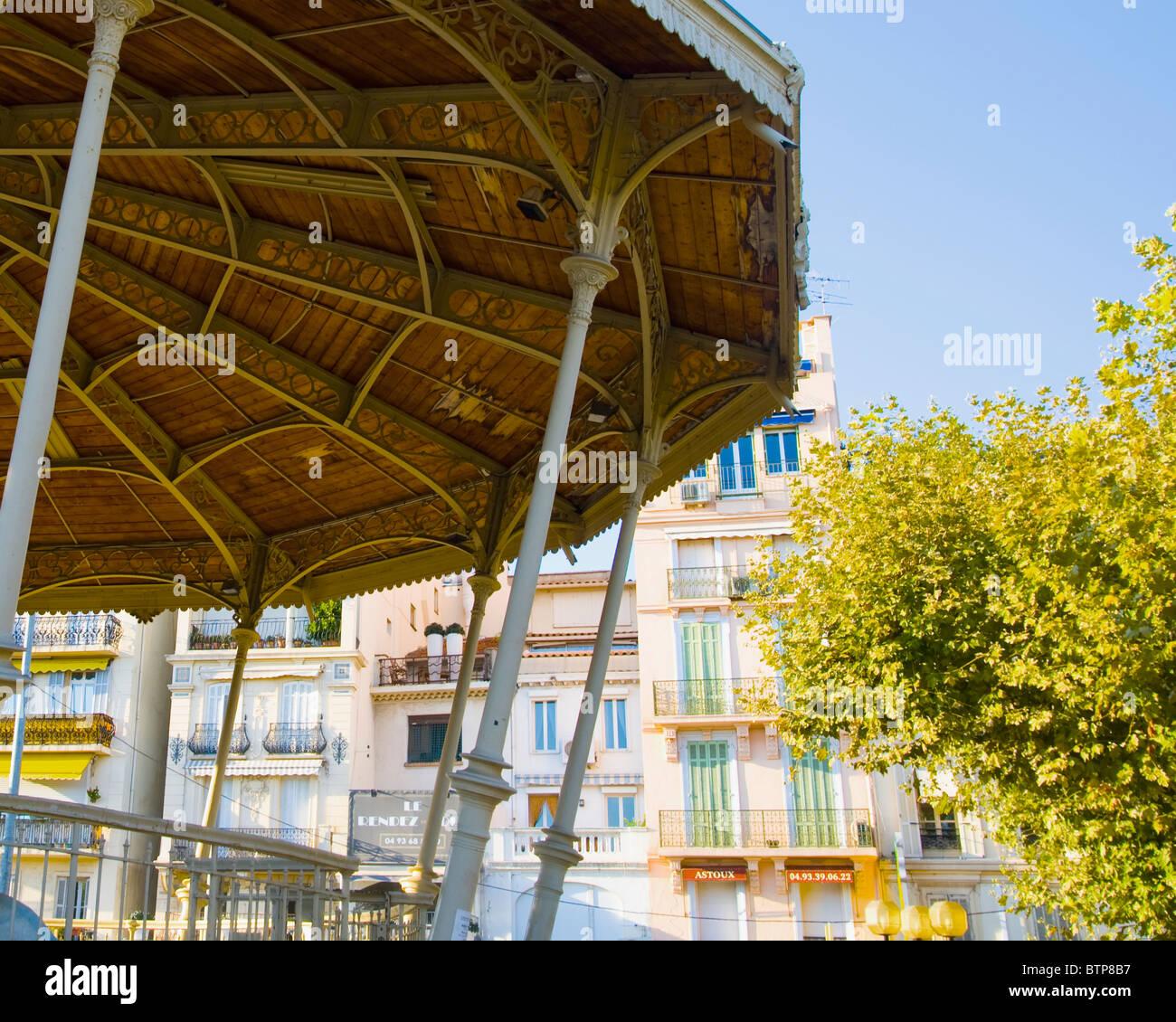 Bandstand, Cannes, Cote D'Azur, France - Stock Image