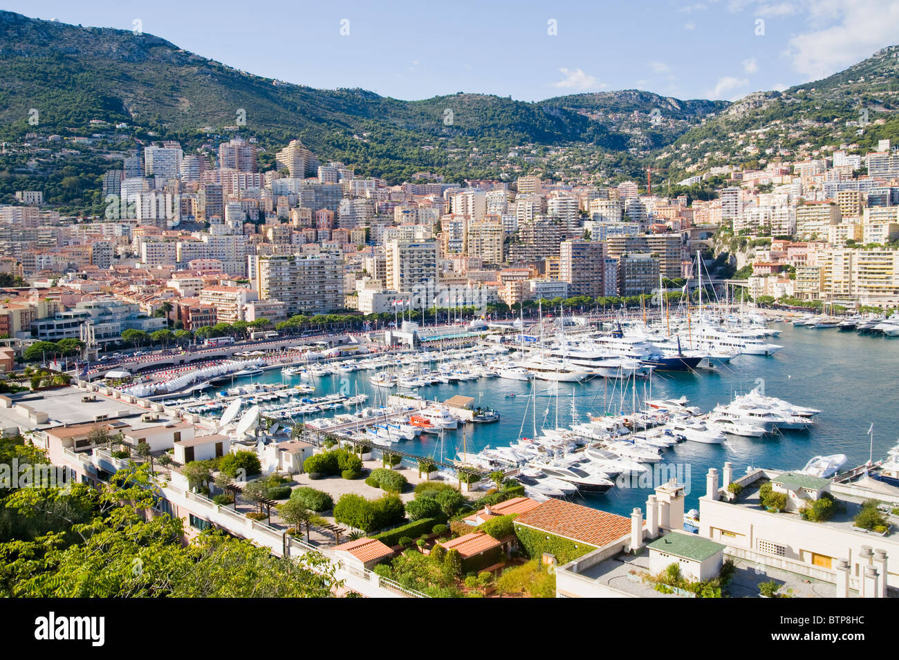 La Condamine, Monaco harbour, Monaco - Stock Image