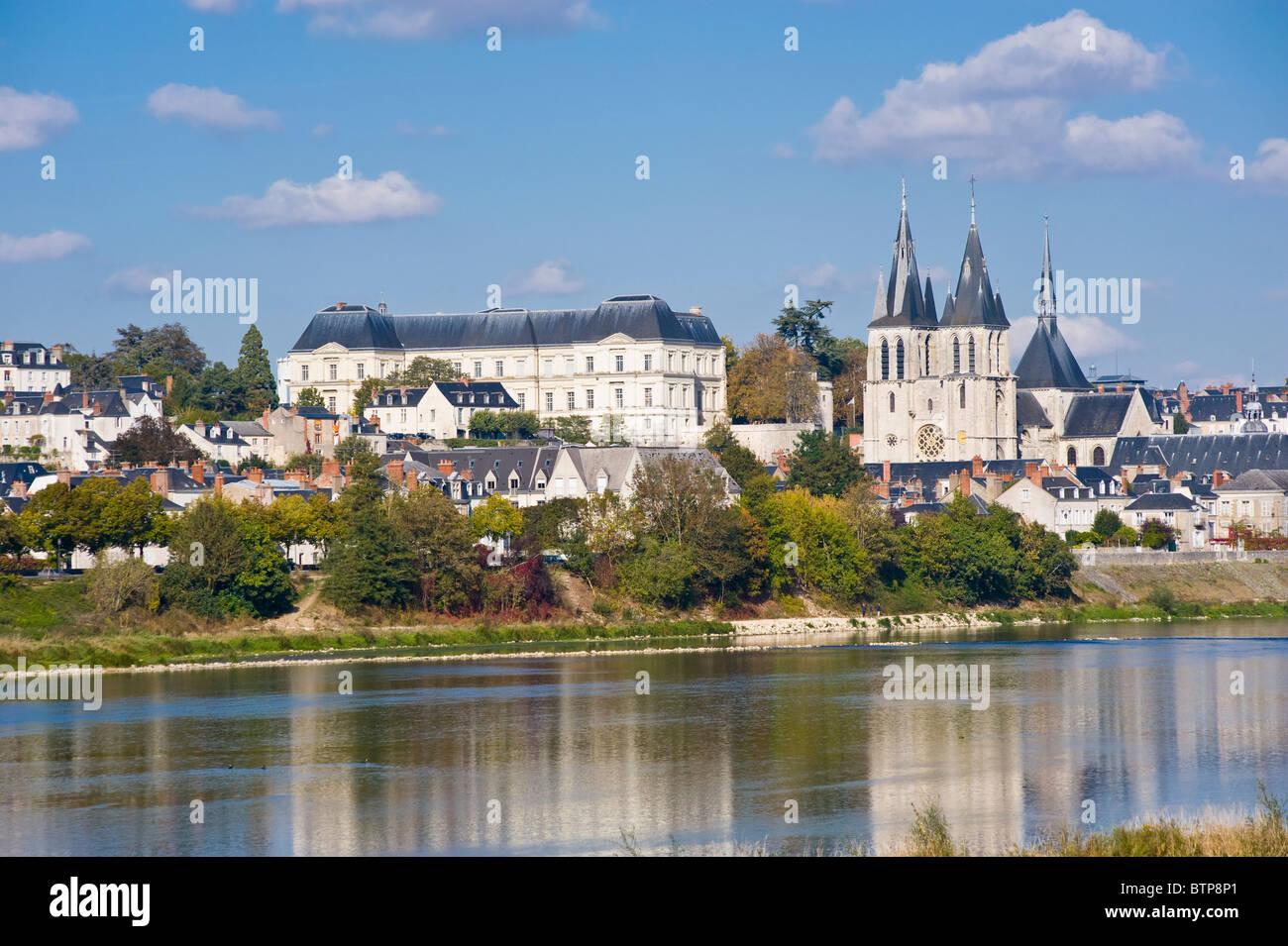 River Loire, Blois, Touraine, France - Stock Image