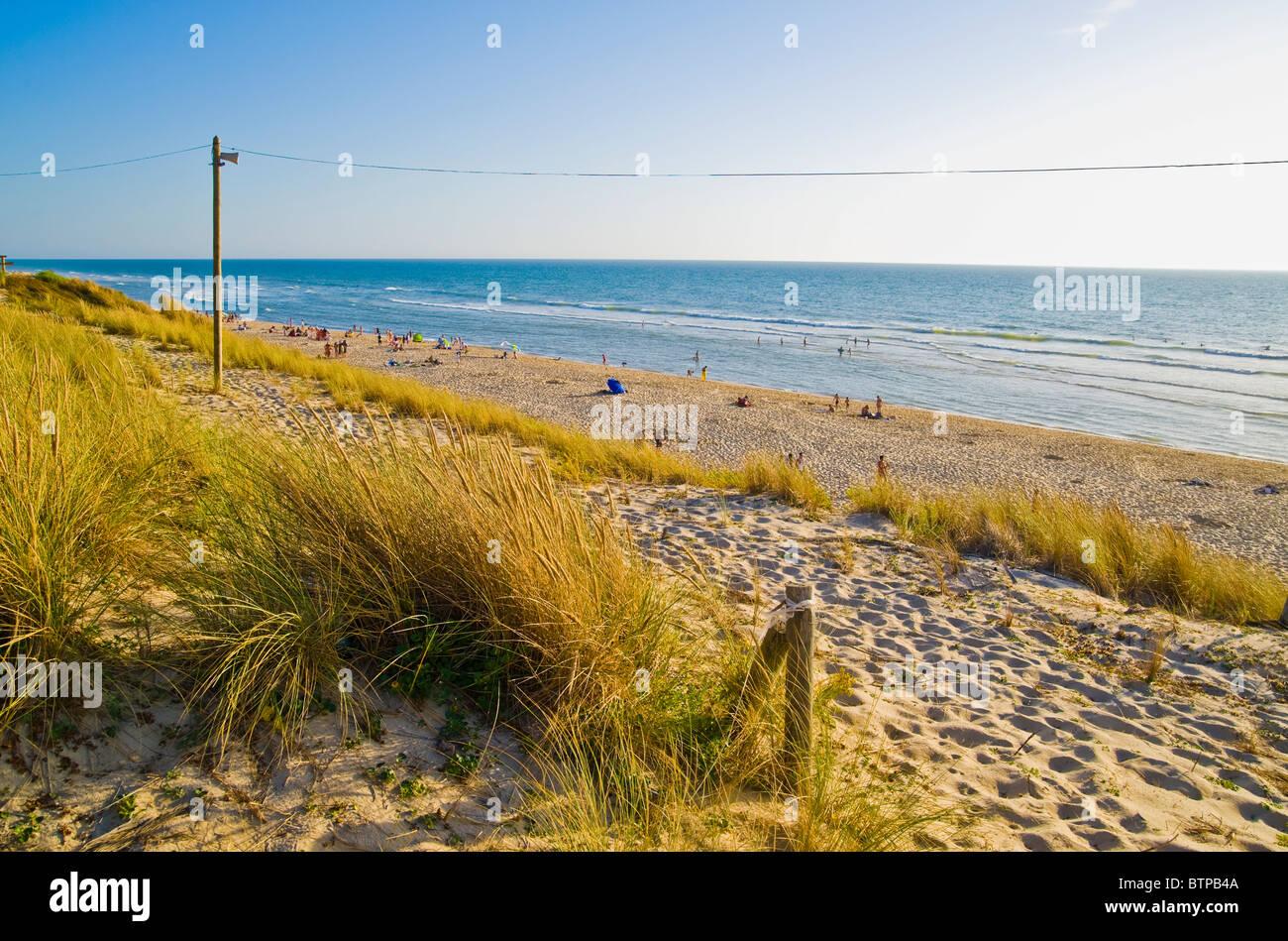 Le Porge-Ocean Beach, Cote d'Argent, France - Stock Image