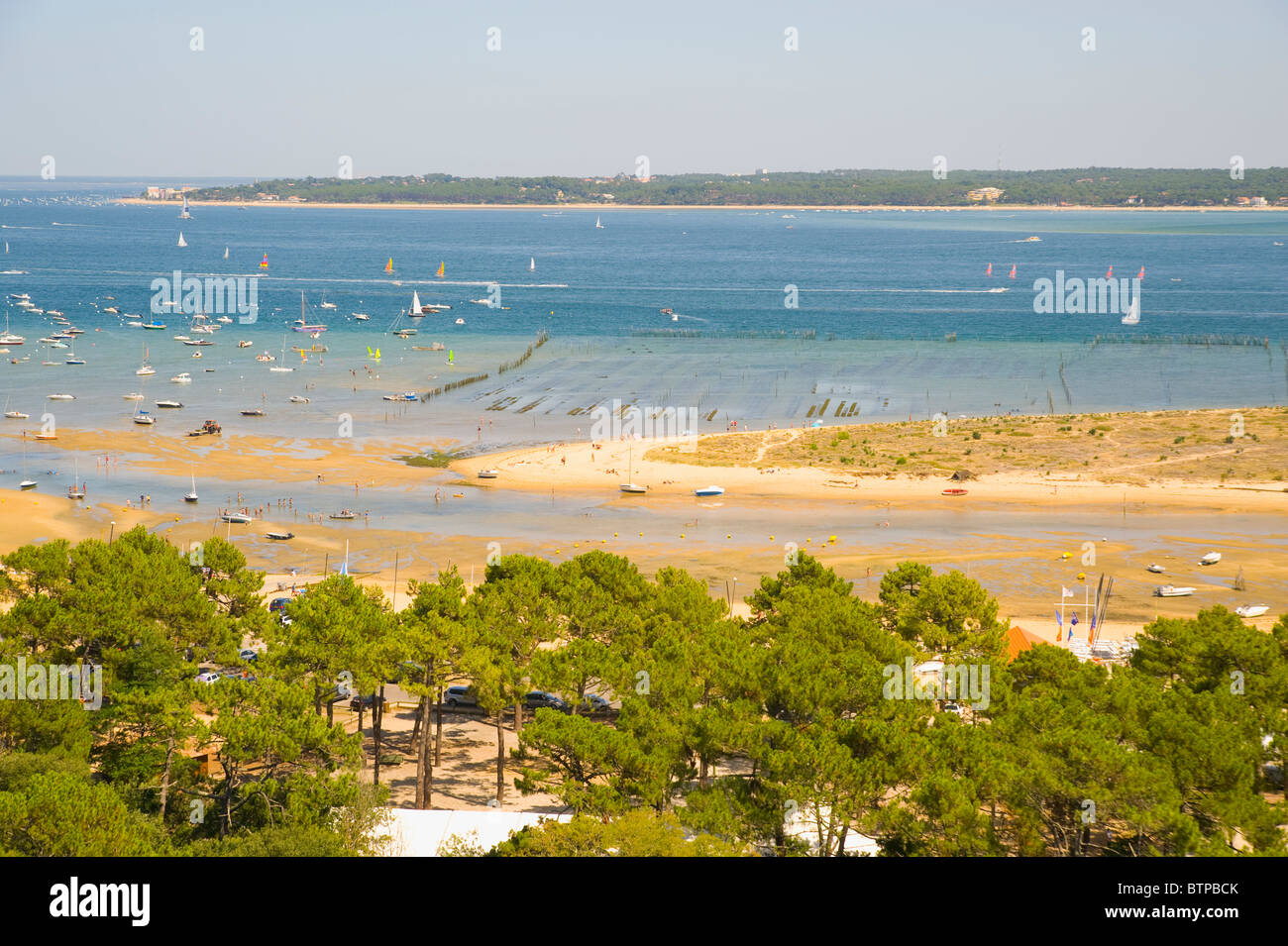 Aerial of Arcachon Basin, Gironde, Aquitaine, France - Stock Image