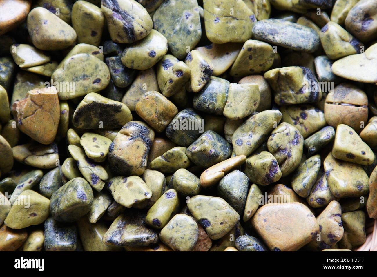 Australia, Tasmania, North-West, Zeehan, Stichtite pebbles - Stock Image