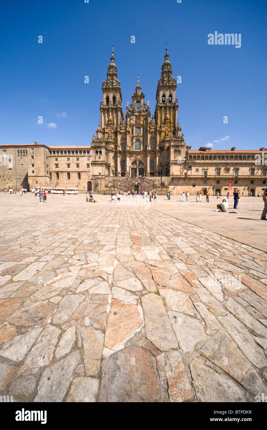 The Cathedral, Santiago de Compostela, Galicia, Spain Stock Photo