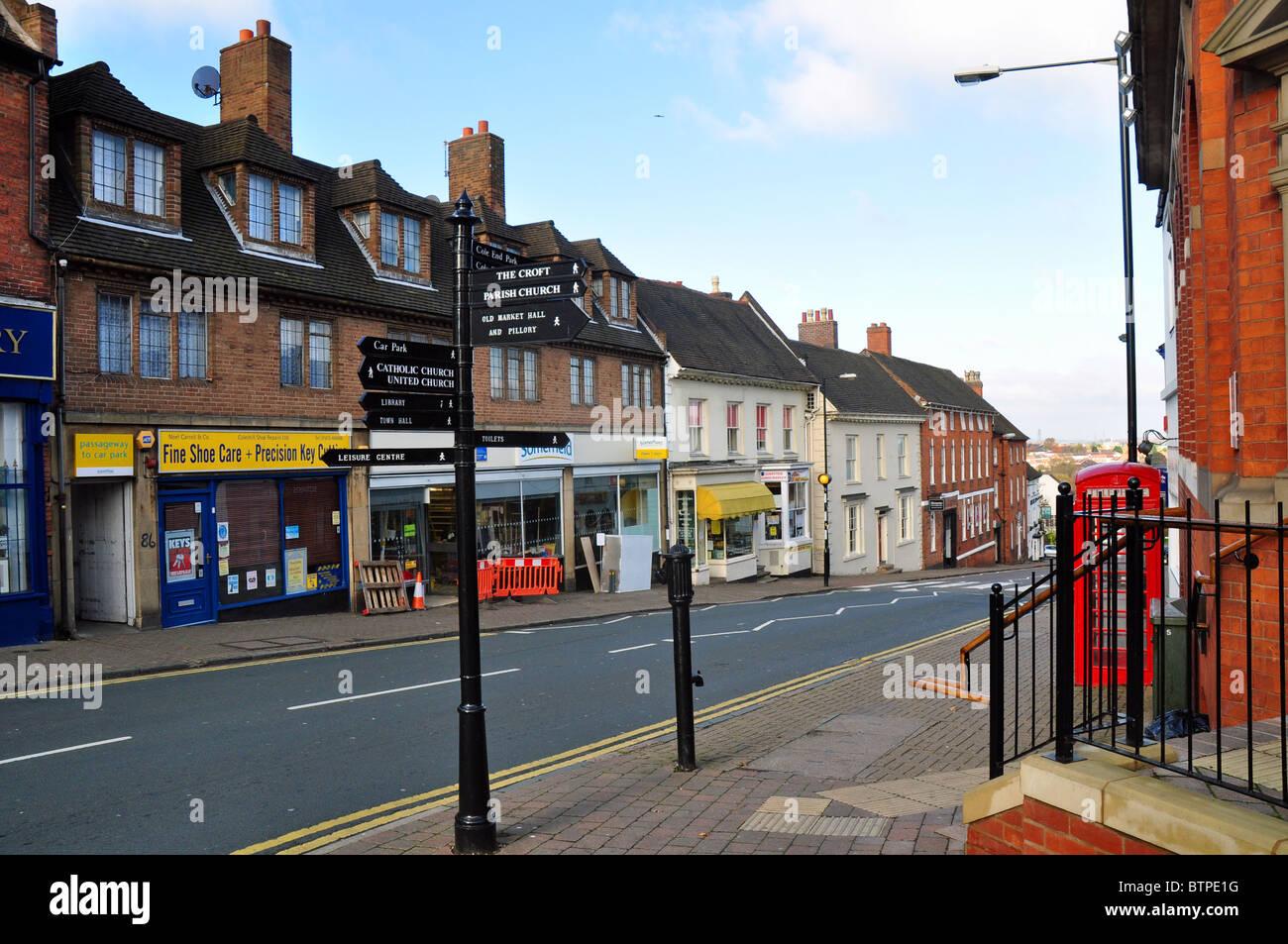 Coleshill, Warwickshire, England: the High Street - Stock Image