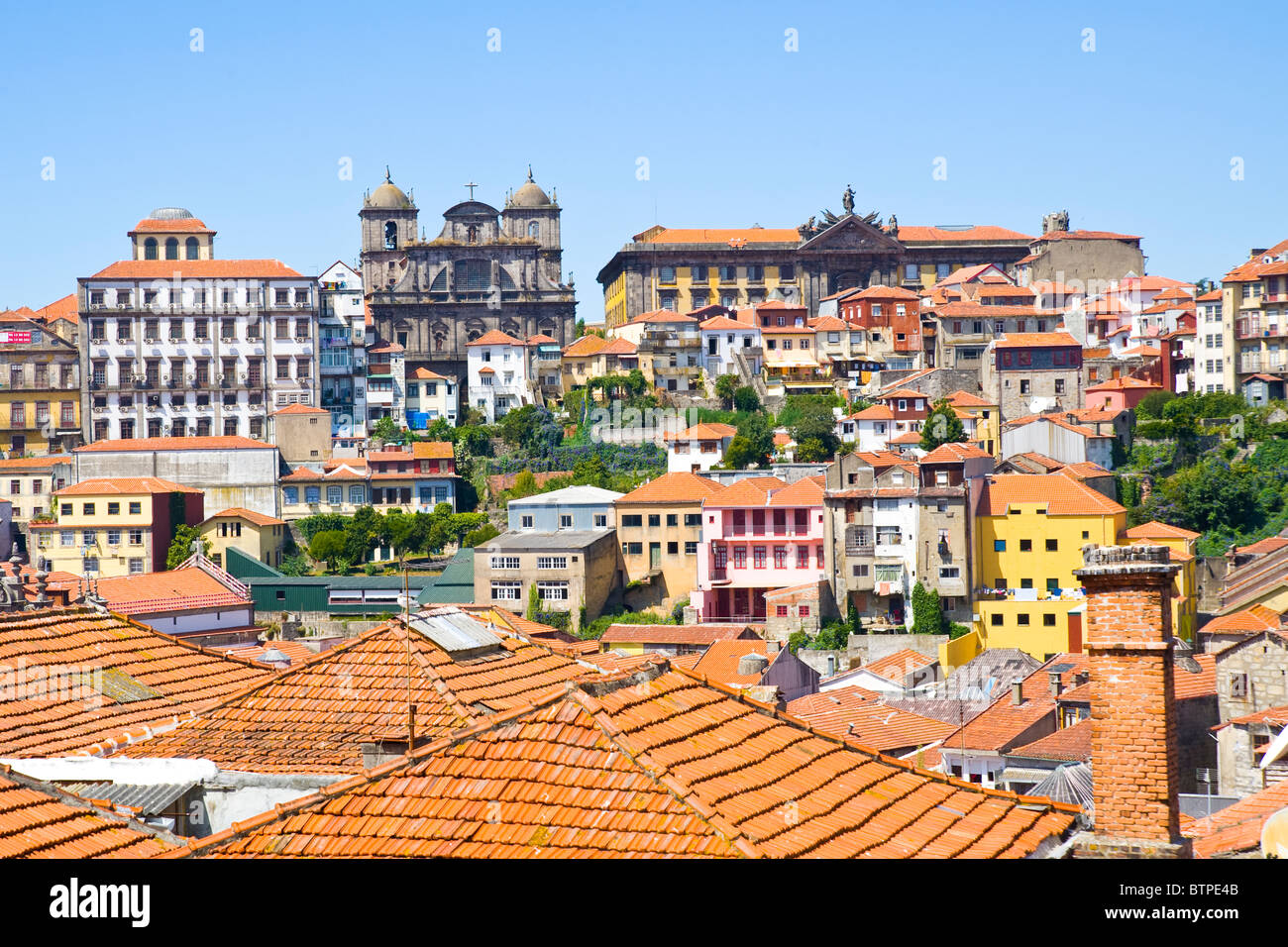 Traditional Buildings, Skyline,  Porto, Portugal - Stock Image