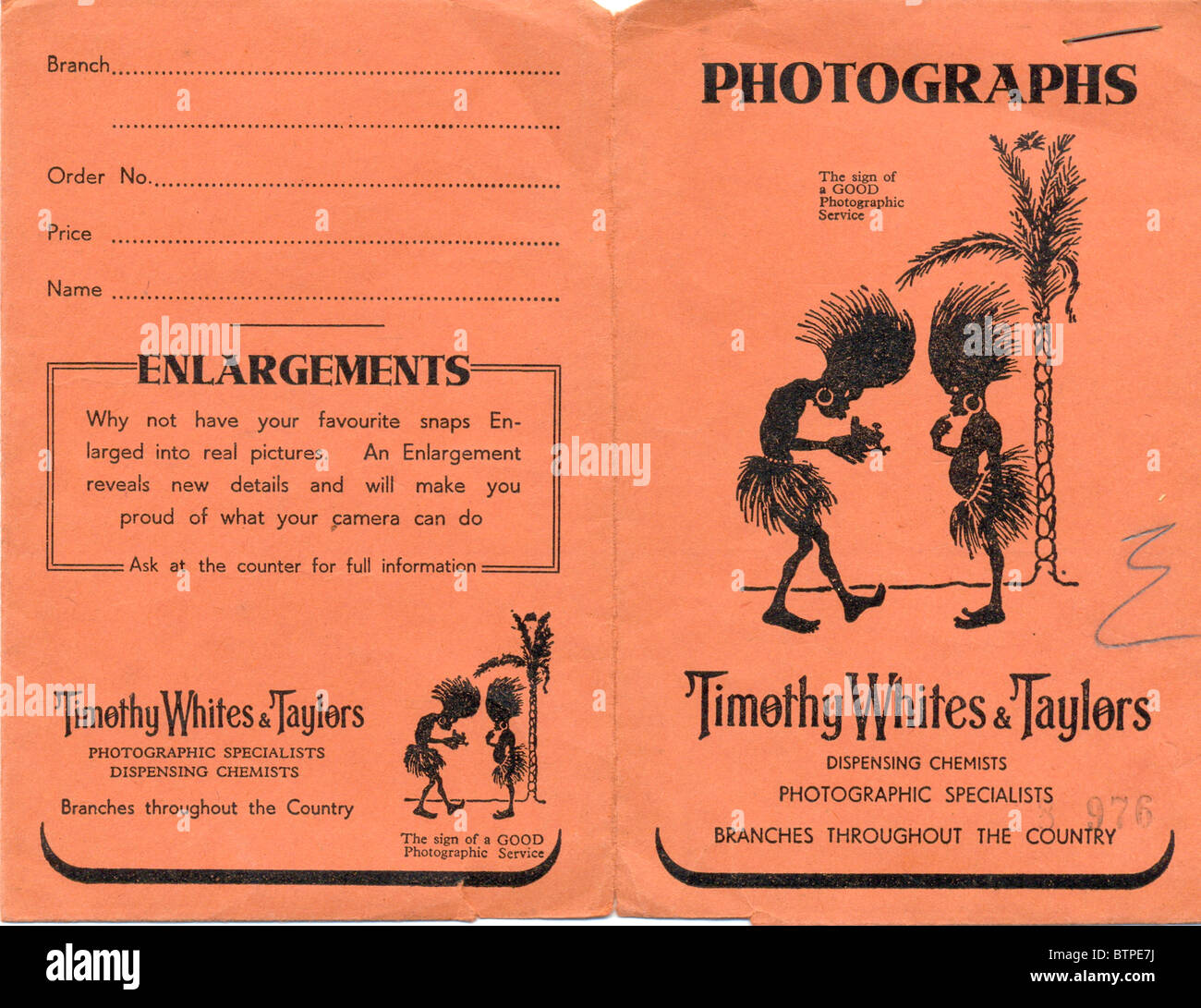 Film wallet circa 1933 - Stock Image