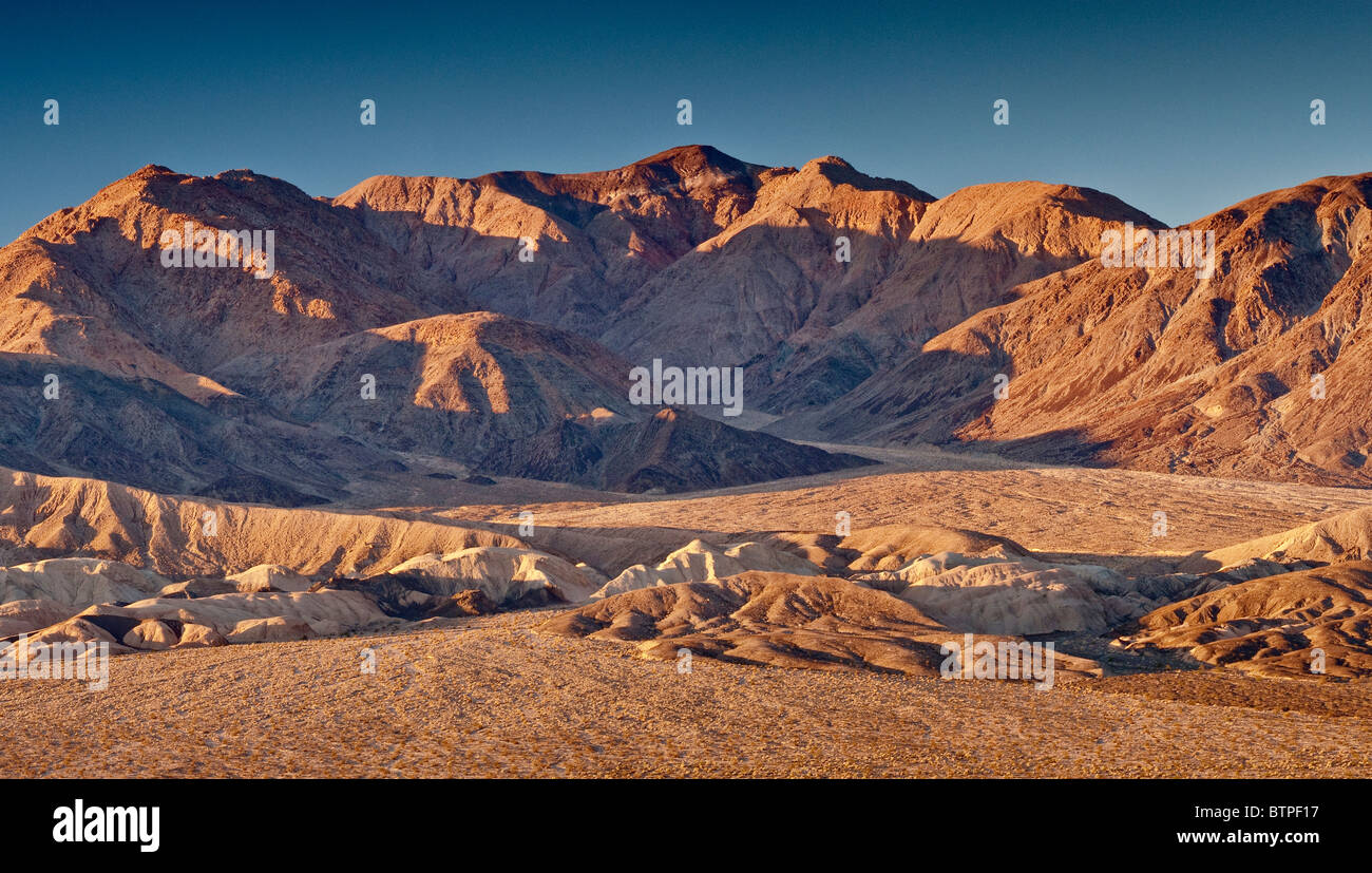 Owlshead Mountains over Confidence Hills in Mojave Desert from Jubilee Pass Road, Death Valley National Park, California, - Stock Image