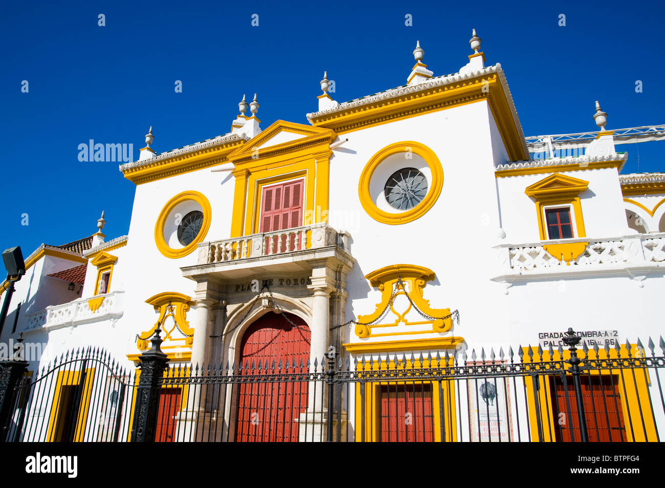 Plaza de Toros, Bullfighting ring, Seville, Andalucia, Spain Stock Photo