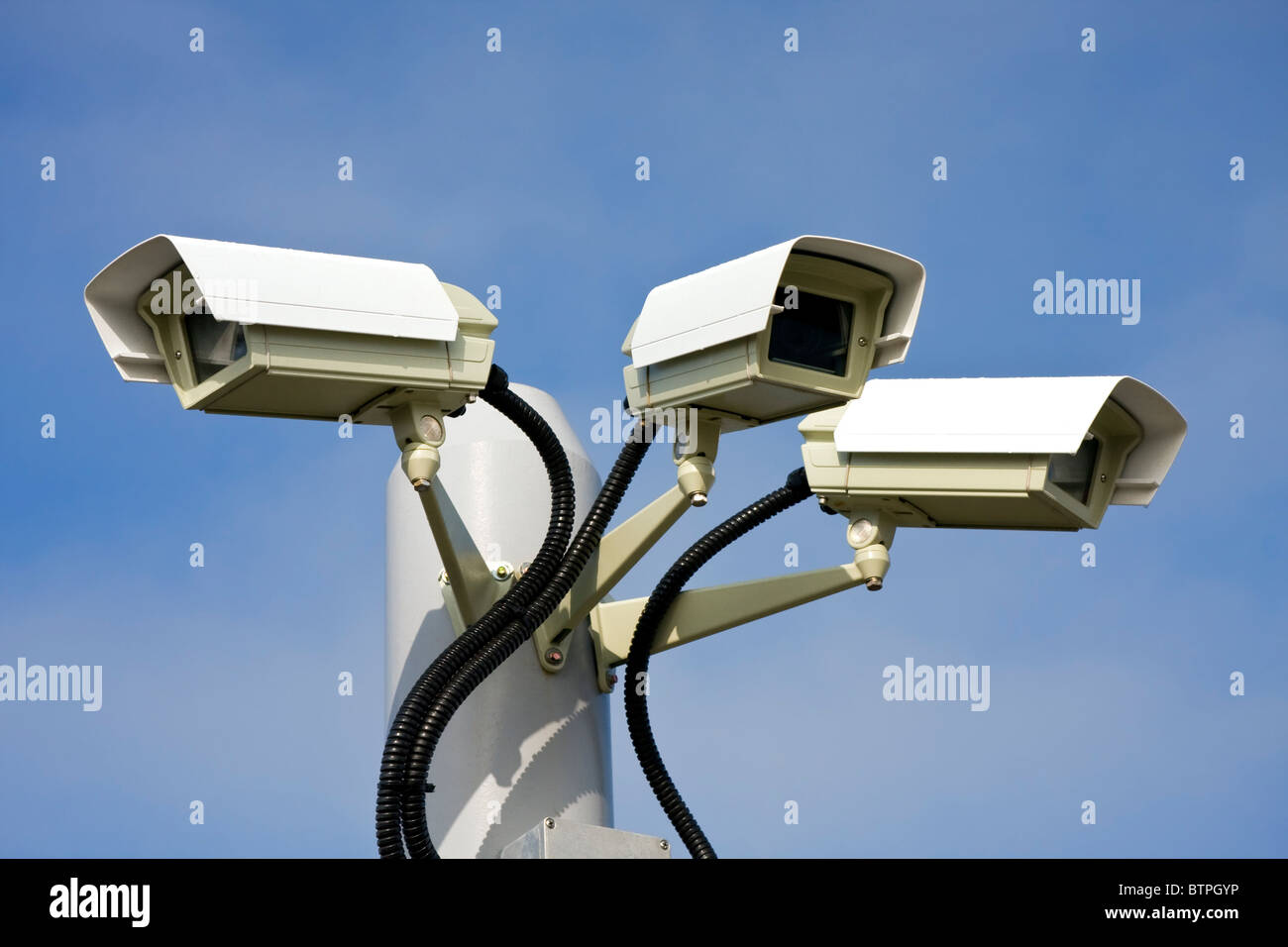 Security surveillance camera - Stock Image