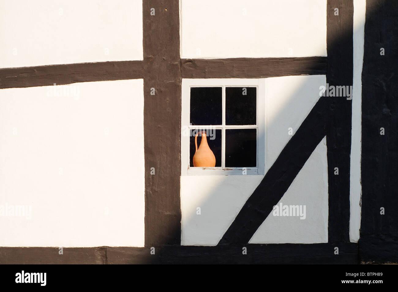 Germany, Goslar, Wall and window - Stock Image