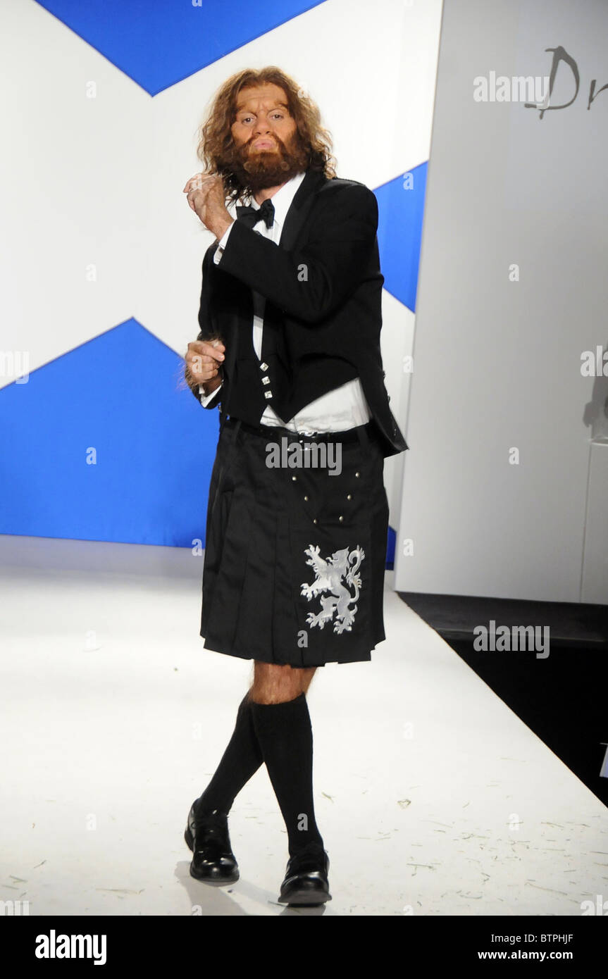 Glenfiddich Dressed to Kilt Charity Fashion Show - Stock Image