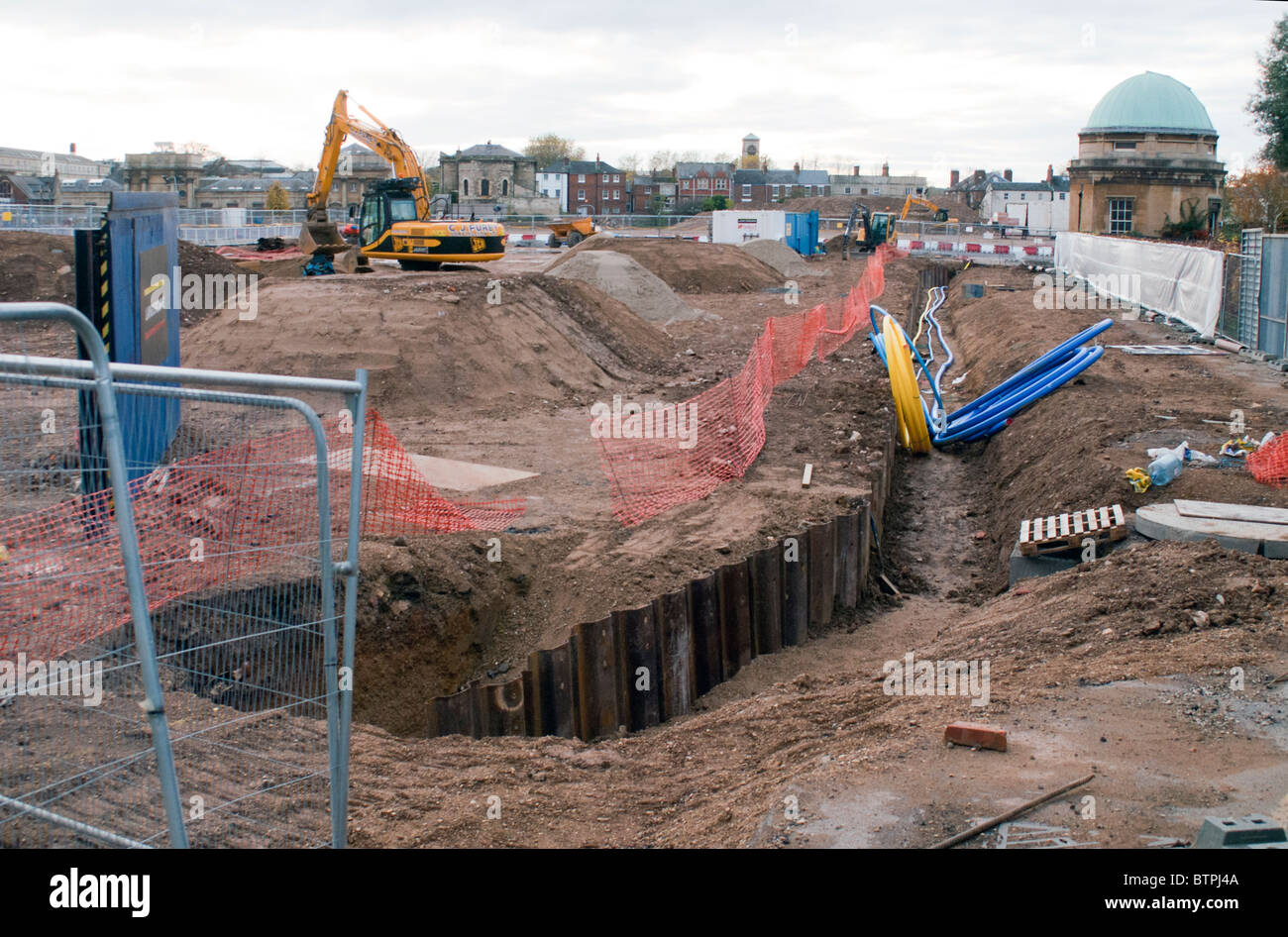 The Old Radcliffe Infirmary  Land Building Site - Stock Image