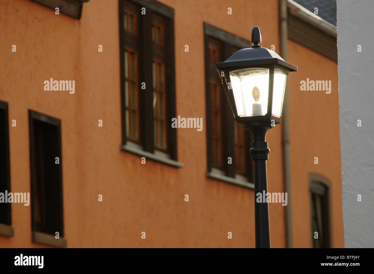Germany, Hesse, Limburg an der Lahn, Old Fashioned street light - Stock Image
