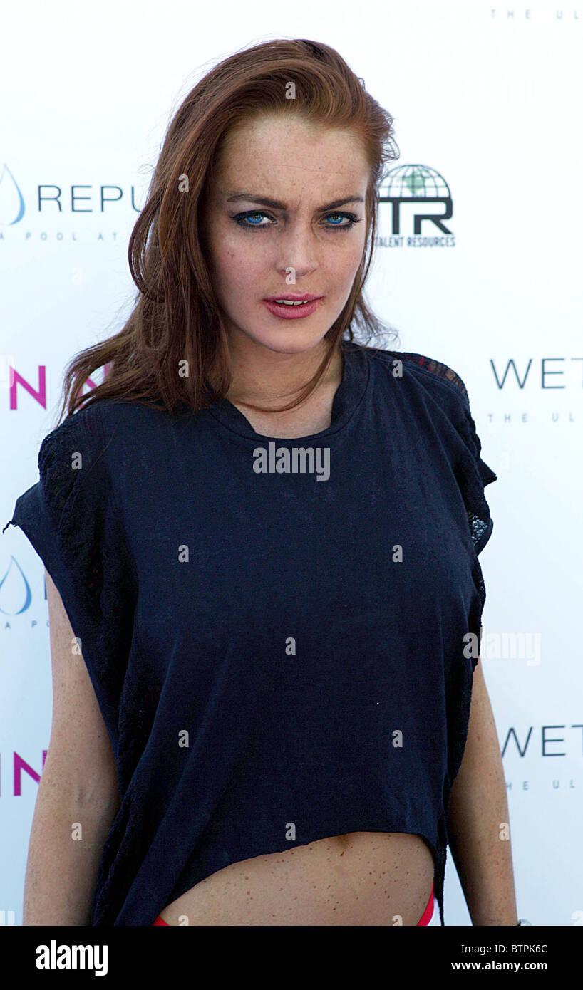 Lindsay lohan see through shirt and