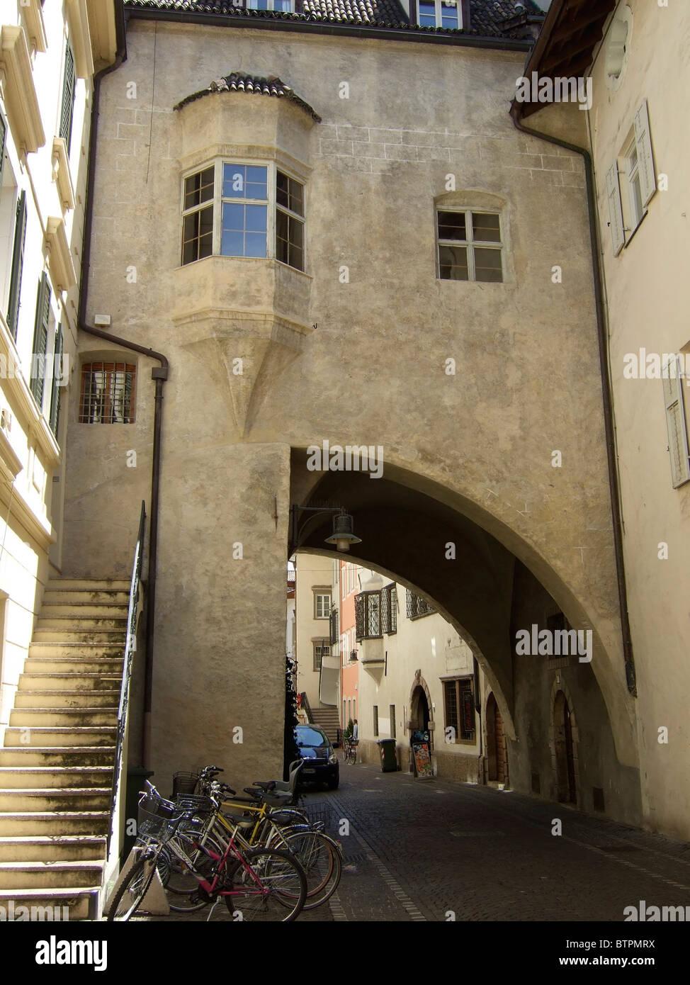 Italy, Alto Adige, Bolzano, Old Town - Stock Image