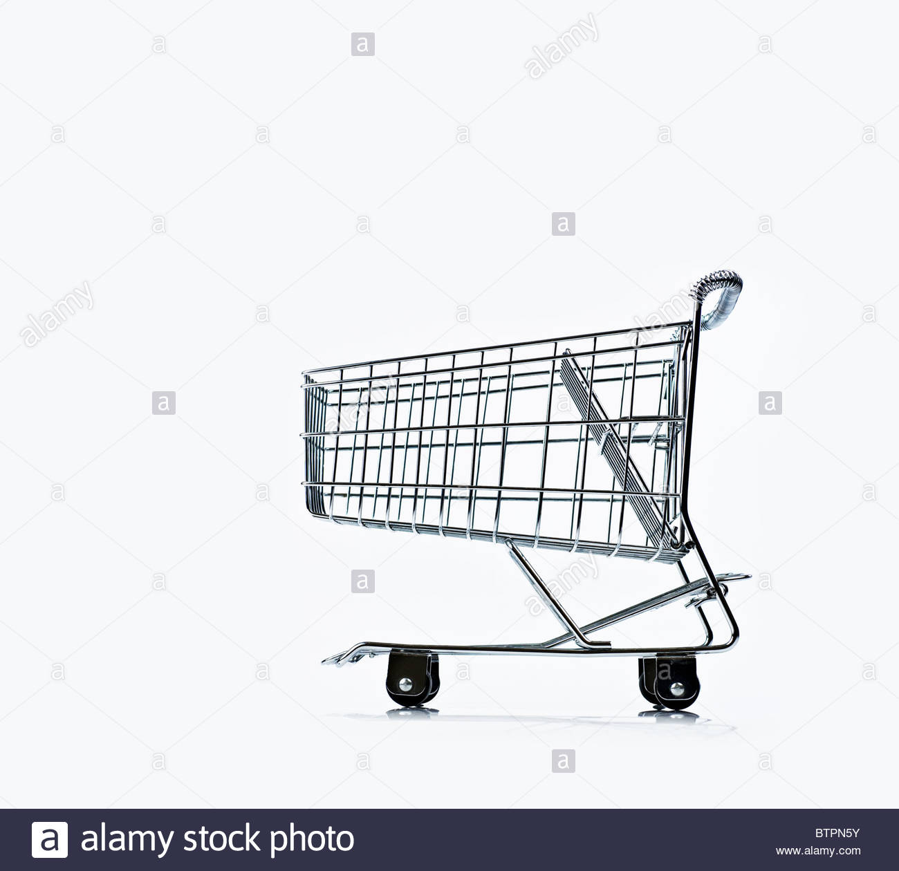 Shopping trolley - Stock Image