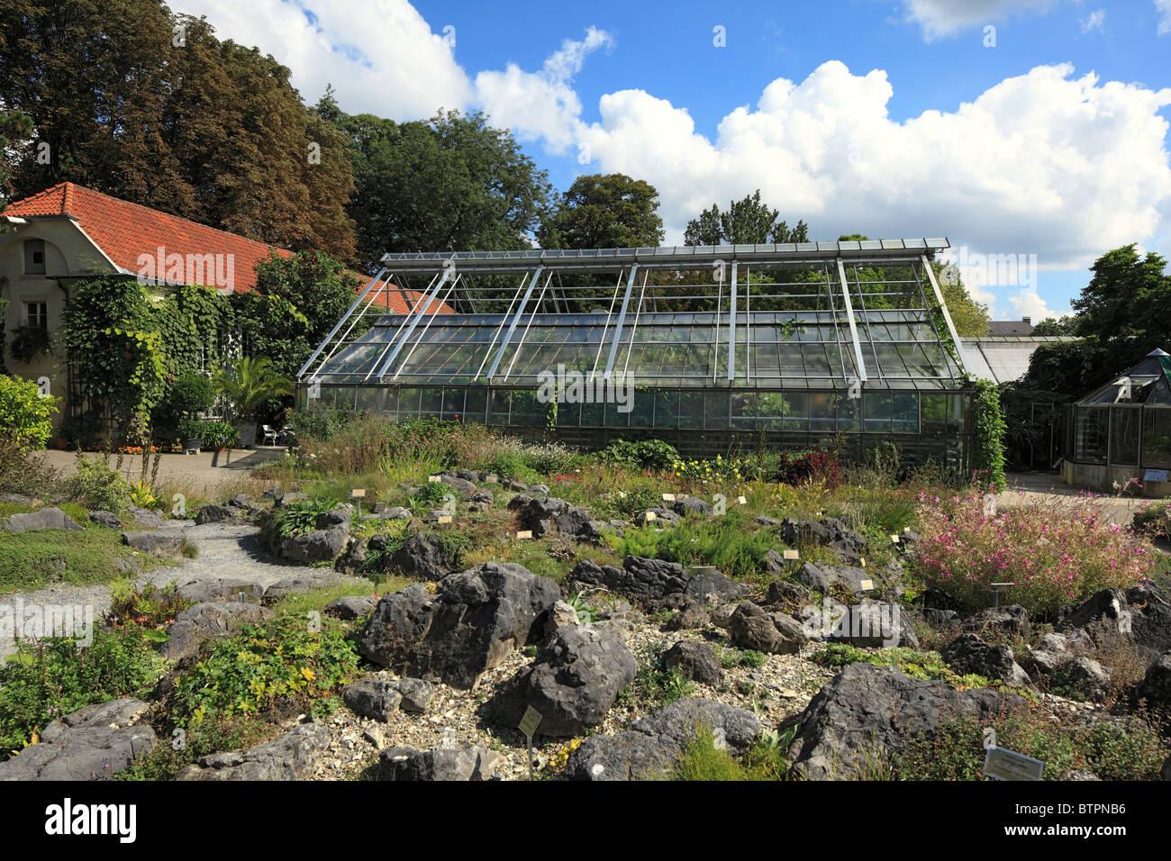 Botanischer Garten der Universitaet im Schlossgarten von Muenster, Westfalen, Nordrhein-Westfalen - Stock Image