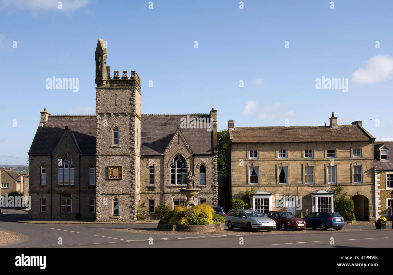 England, North Yorkshire, Middleham, Town hall - Stock Image