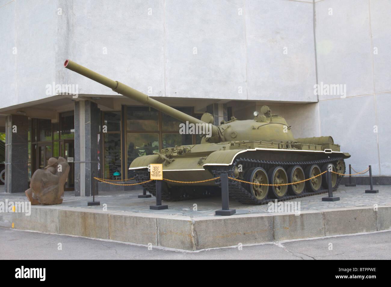 Tank at Great Patriotic War (World War II) open air museum Kiev Ukraine Europe - Stock Image