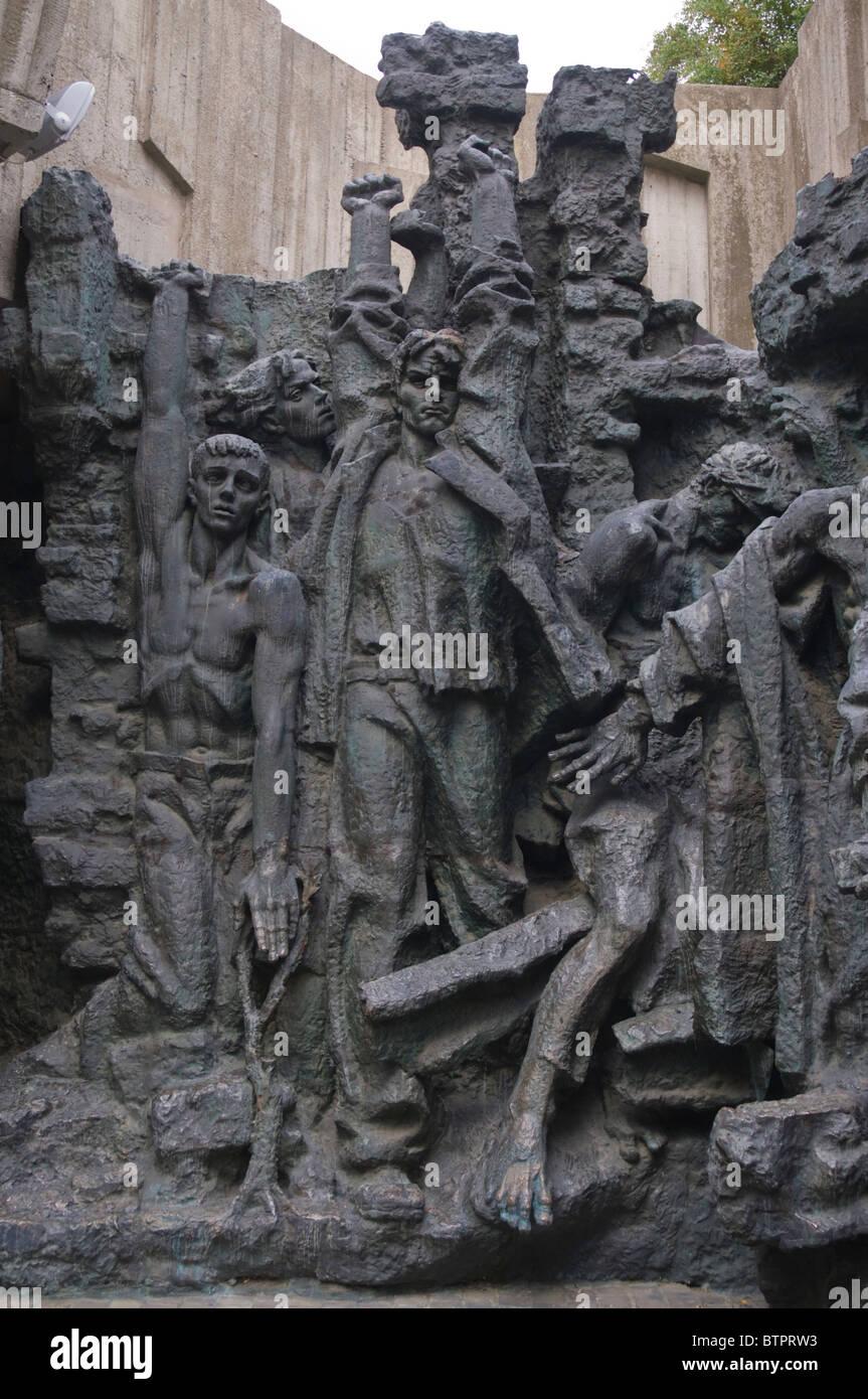 Reliefs at Great Patriotic War (World War II) open air museum Kiev Ukraine Europe - Stock Image