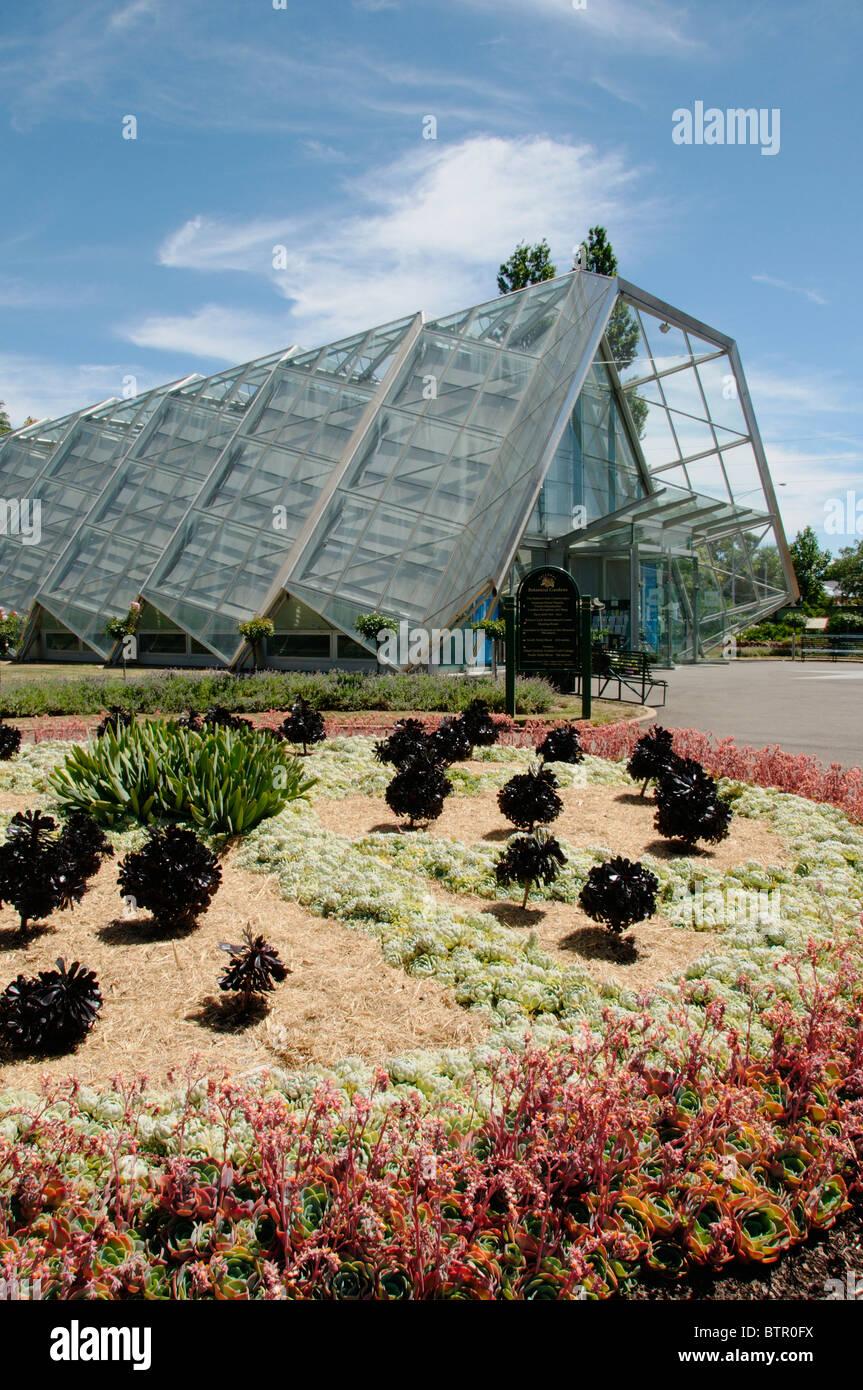 Australia, Central Victoria, Ballarat, Botanical garden and green house - Stock Image