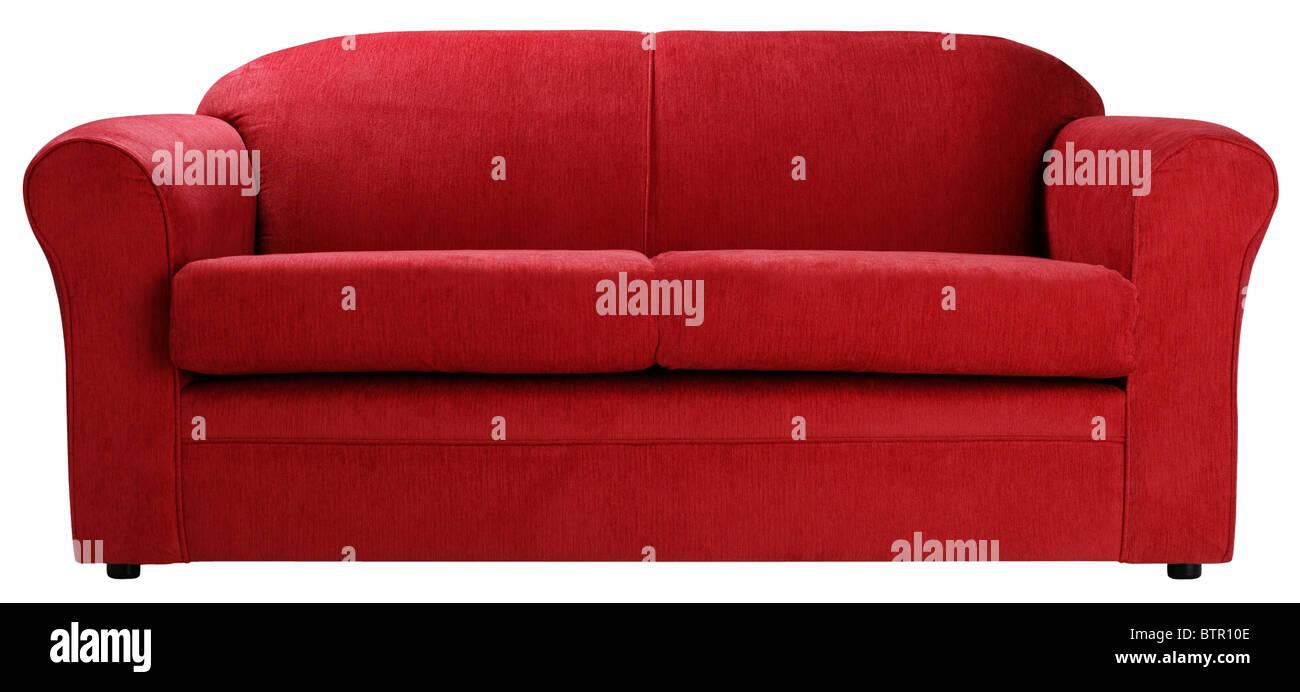 Red sofa - Stock Image