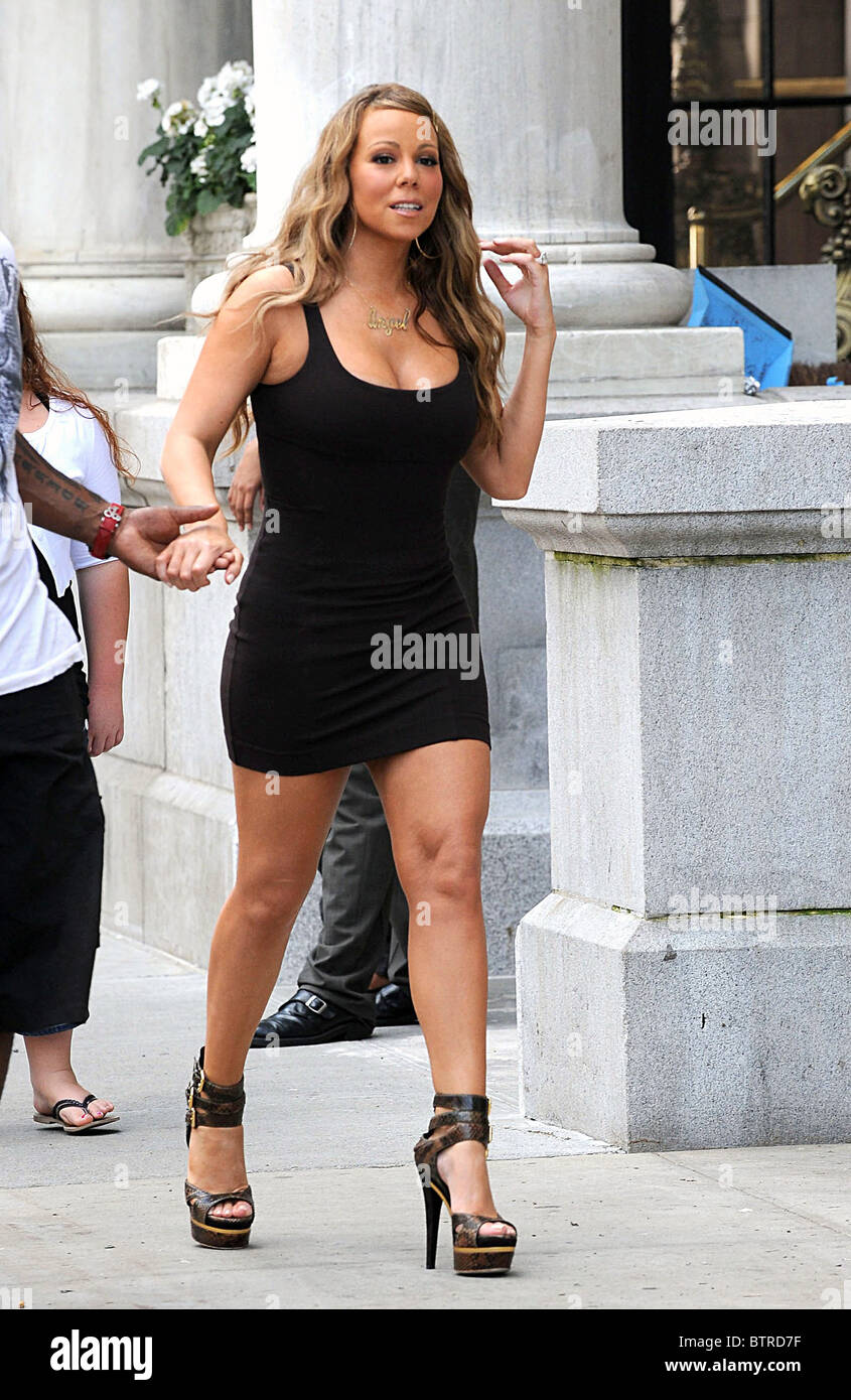 470d60e607f Mariah Carey Films a Music Video For Her New Single OBSESSED Stock ...