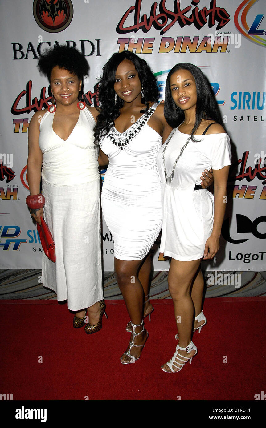 Club Skirts Presents The Dinah's White Diamonds Party 20th Anniversary - Stock Image