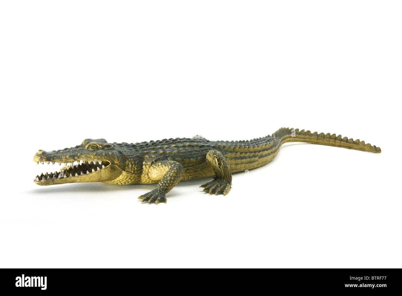 Rubber Crocodile - Stock Image