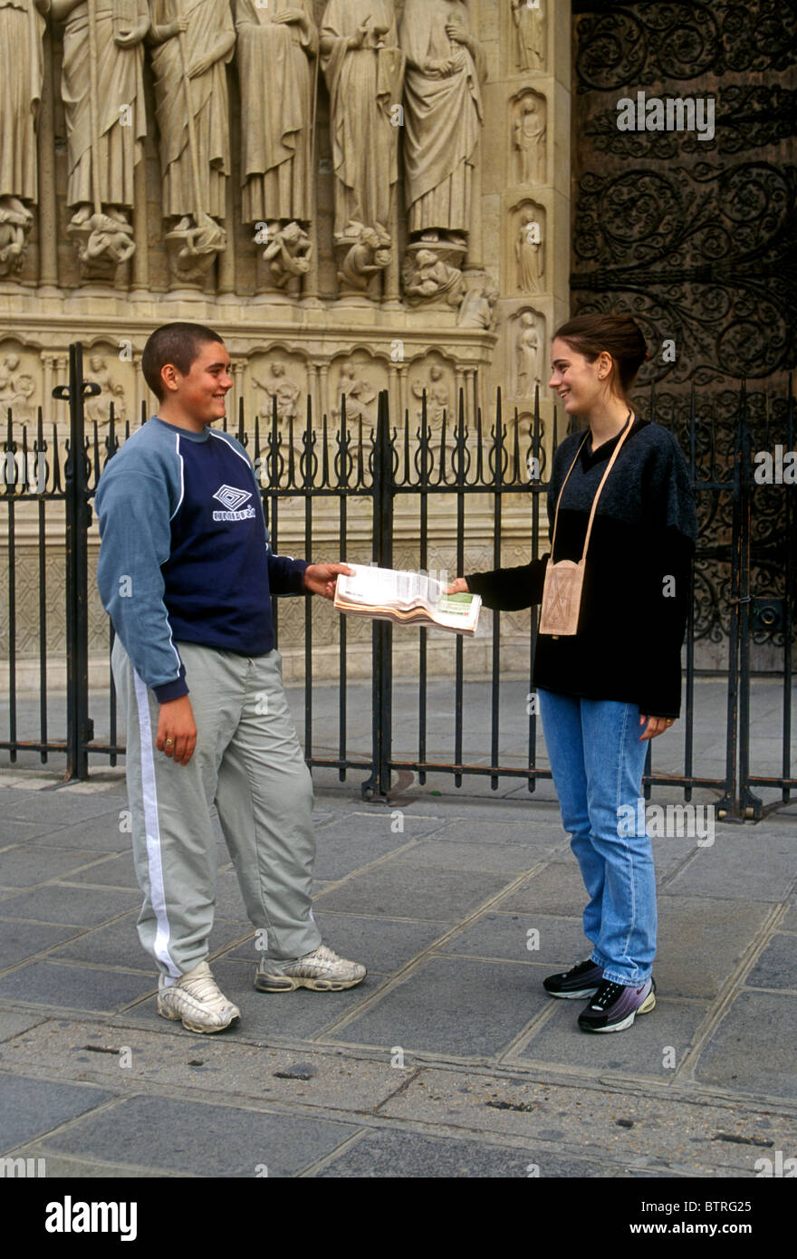 French People Students Lycee Charlemagne Stock Photos: French People Male Teens Teenage Stock Photos & French