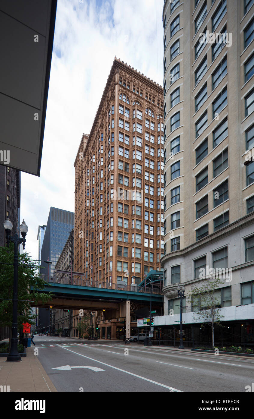 Fisher Building, 343 South Dearborn Street, Chicago, Illinois, USA - Stock Image
