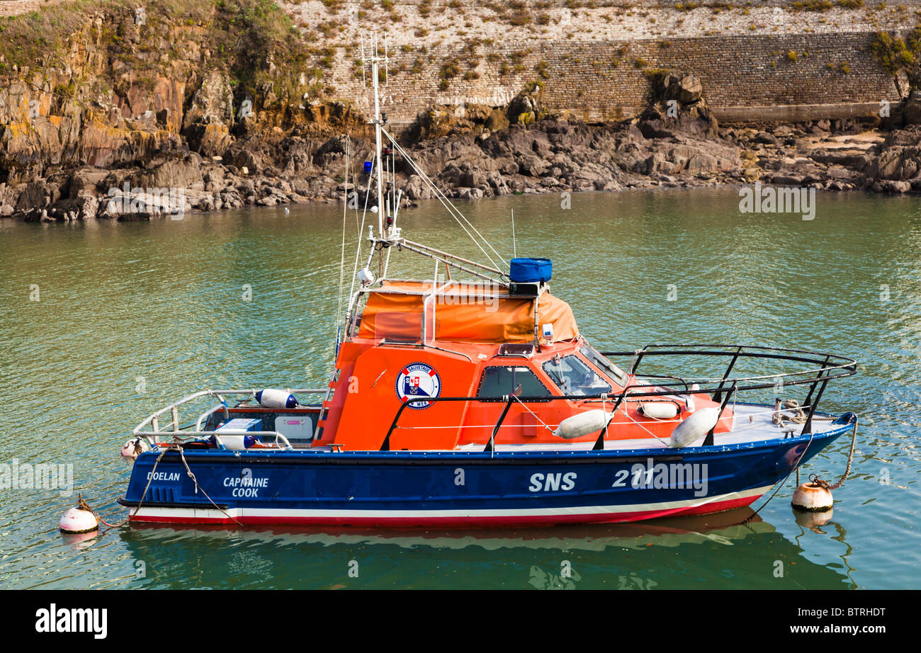 French Lifeboat moored, France, Europe - Stock Image