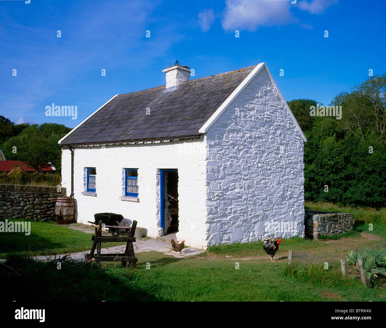 1e277a89d1fed Muckross Traditional Farms, Killarney National Park,Co Kerry, Ireland;  Traditional Farm Depicting Life In The Early 20Th Century