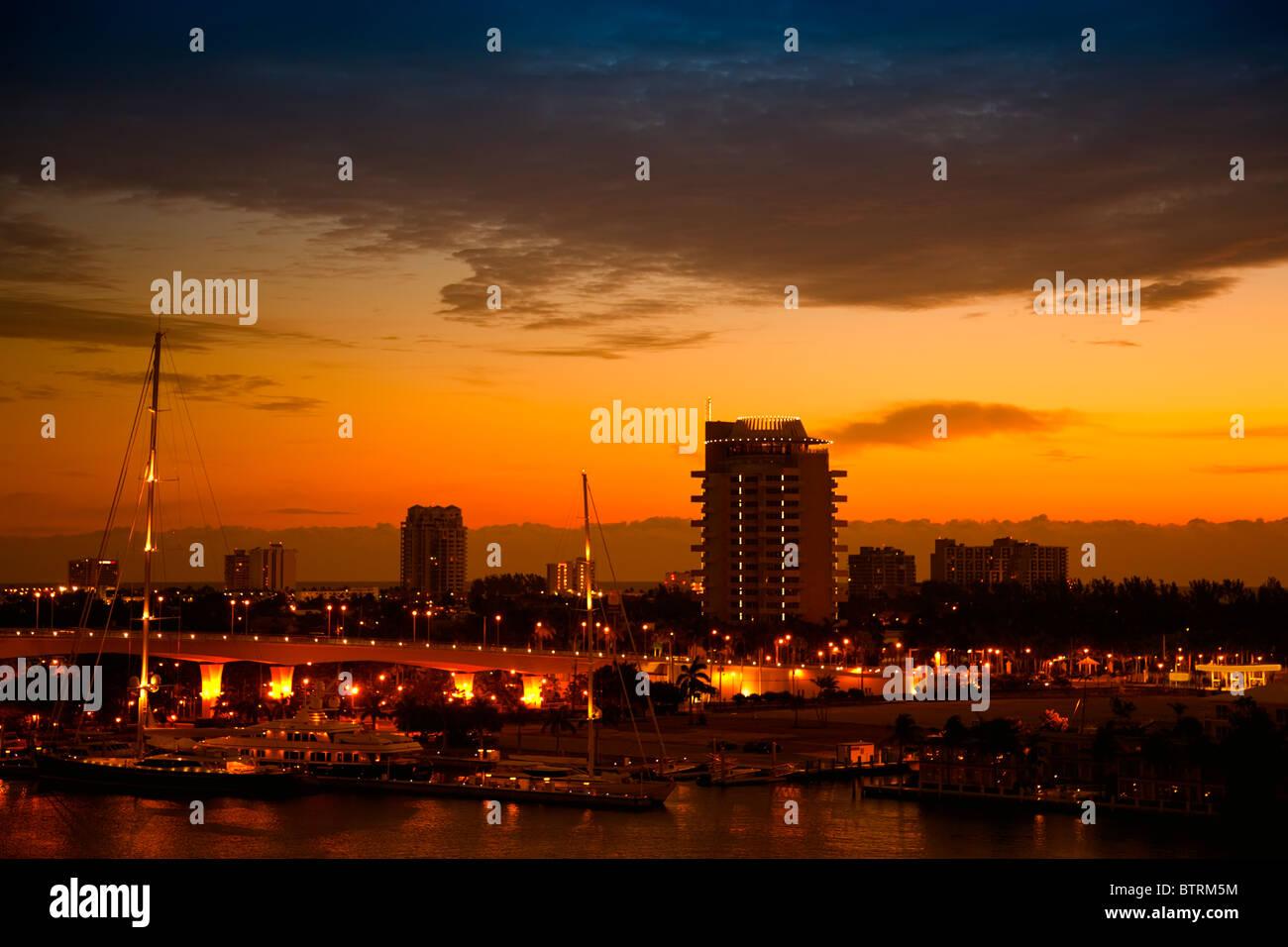 Sunrise in Fort Lauderdale, Florida Stock Photo