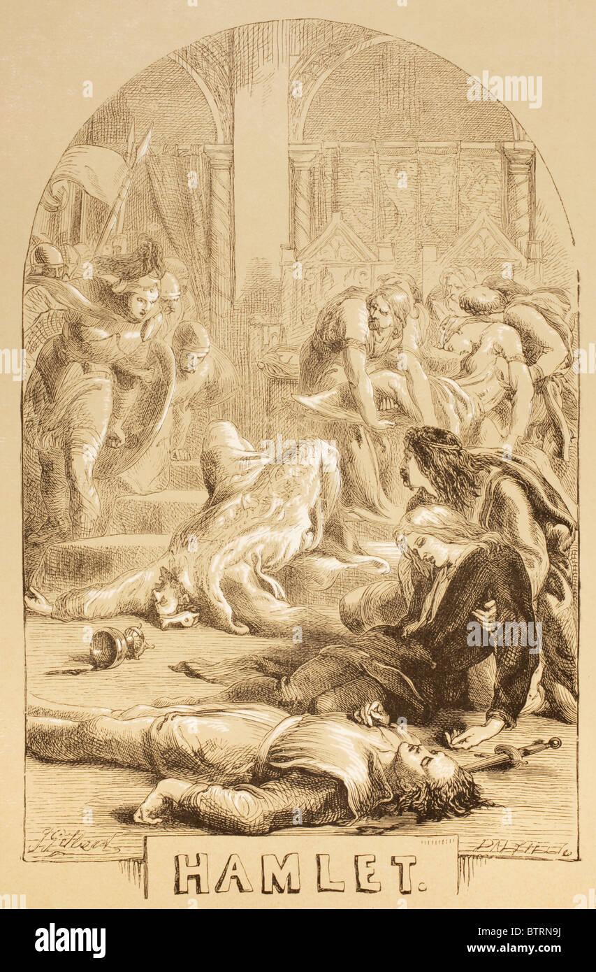 Illustration by Sir John Gilbert for Hamlet, by William Shakespeare. - Stock Image