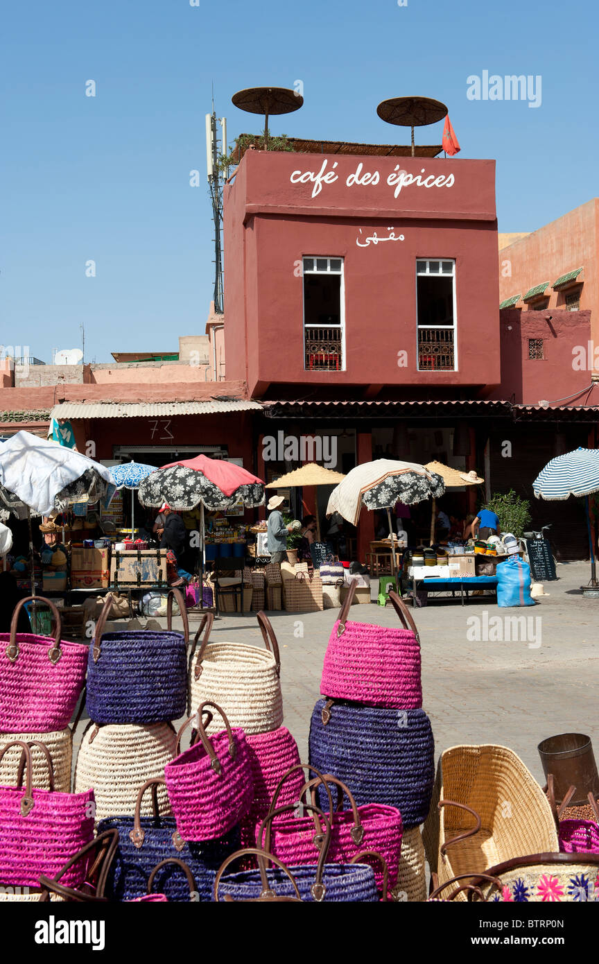 Handicrafts Medina Souk Marrakech Morocco North Africa - Stock Image