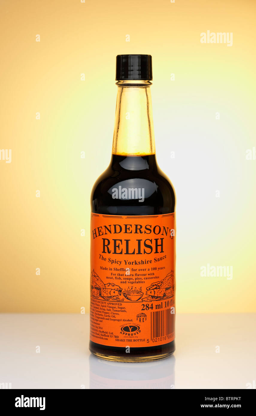 284m ml bottle of Henderson's Relish - Stock Image