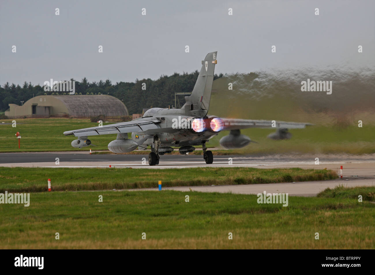 Tornado GR4 takes off from RAF Lossiemouth Stock Photo