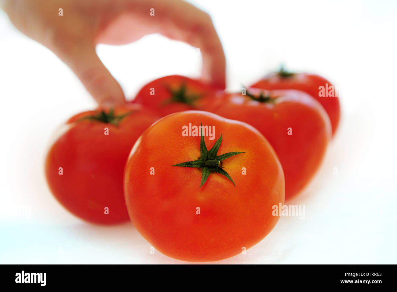 Photo Illustration - Healthy Diet Red Tomatoes - Stock Image