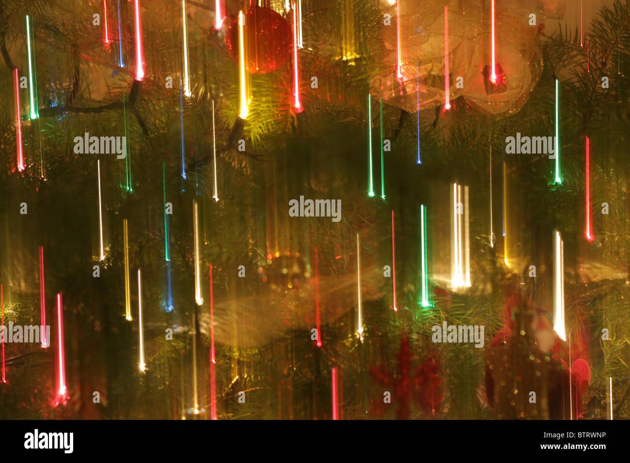 Abstract Christmas lights background - Stock Image