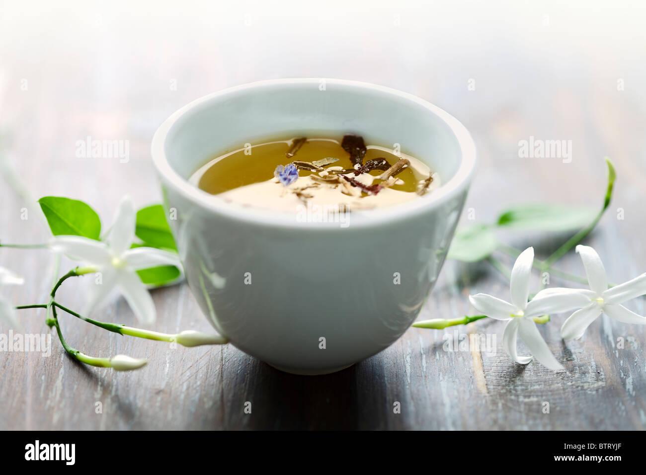 jasmin tea - Stock Image